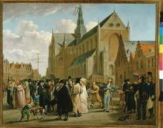 Het volksfeest van 4 juli 1825 op de Grote Markt te Haarlem