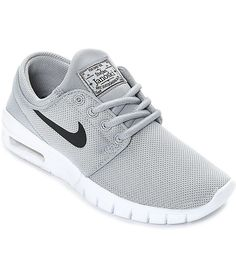 bf657dfa14 Details about NIke SB Stefan Janoski Max Wolf Grey Black White 905217 002  Youth 7 Nwb $85