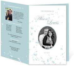 Wedding Programs and Templates: Letter Single Fold: Dandylion DIY Printable Wedding Program Template