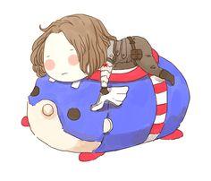 I bought a big size Tsumtsum Captain and I love it sooooooooo much >
