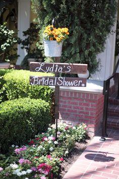 Cute backyard, rustic-y bridal shower @Shannon Powers