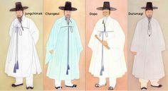 Four robes for Joseon gentlemen Men's Robes, Gentlemen Wear, Man Bun, Korean Men, World Cultures, Costume Design, Different Styles, Gentleman, Going Out