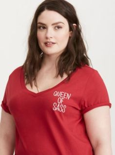 Queen of Sass V-Neck Tee