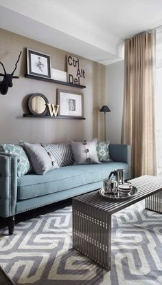 #homedesign #livingroomdecor #inspiration | Photo of a small contemporary formal open concept living room in Toronto with beige…
