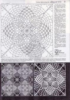 Crocheted motif no. Crochet Circles, Crochet Squares, Crochet Granny, Filet Crochet, Knit Crochet, Crochet Bedspread, Crochet Tablecloth, Crochet Doilies, Crochet Flowers