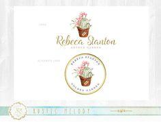 Garden Logo,Floral Logo Design ,Photography Logo ,Artisan Logo ,Boutique Logo ,Shabby Chic Logo,Stamp Logo, Florist Logo,