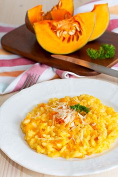 Traditional Italian Winter Squash Risotto (Risotto alla Zucca) | Enjoy this authentic Italian recipe from our kitchen to yours. Buon Appetito!