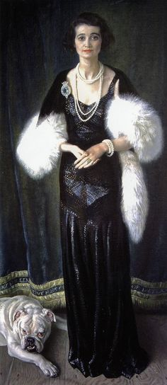 black and white - woman and dog - Dame Laura Knight (1877-1970) - portrait of Kathleen, 9th Duchess of Rutland, with her dog Johhny, 1933. - Belvoir Castle, Leicestershire, UK