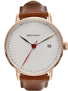 The automatic minimalist wrist watch: Handmade Italian calf leather strap – Brathwait