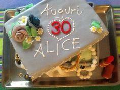 Alice birthday's fashion cake