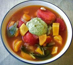 Crockpot Recipe for Red Lentil, Chickpea, and Tomato Soup with Smoked ...
