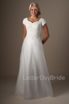 Modest Wedding Dresses : Kinyon. Available at Latterday Bride. Go to our website to see more. latterdaybride.com