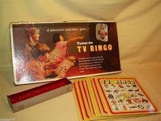 TUNE IN TV BINGO SELRIGHT SELCOW RIGHTER 1970 NO 27 VINTAGE TELEVISION GAME #SelcowRighterSelrightSelRight