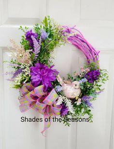 Spring Wreath, Summer Wreath, Grapevine Wreath, Tulip Wreath, Spring Grapevine Wreath, Mother's Day Wreath, Floral Grapevine Door Wreath