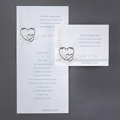 Sterling Hearts Wedding Invitations http://partyblock.carlsoncraft.com/Wedding/Spanish-Invitations/3236-HH6822-Sterling-Hearts--Invitation.pro