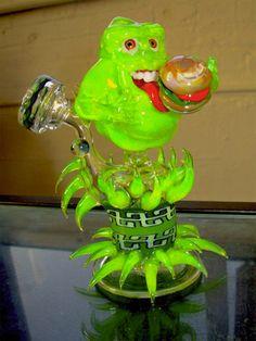 Ghostbusters Slimer Glass Pipe on Global Geek News.