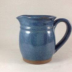 Pottery Pitcher Syrup Pitcher Ceramic by CharlotteLeePottery