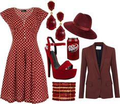 """""""Dr. Pepper"""" by kaishabackwards ❤ liked on Polyvore"""