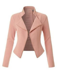 Sharpen your wardrobe with this lightweight open front draped tuxedo blazer jacket. A softly draped open-front silhouette softens the look while the asymmetrical hem adds a modern touch to this blazer. This blazer is perfect for either professional environment or for casual wear. Feature 97% Polyester / 3% Spandex Lightweight, ultrasoft material for comfort / No closure Draped front / Asymmetrical hem / 3/4 Ruched sleeves Shorter length Machine wash or hand wash cold ...