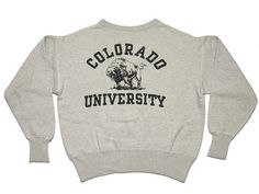 Champion Brand, Colorado University Lettered Sweatshirts, 1950's College Sweatshirts, Champion Brand, Vintage Wear, Colorado, Crew Neck, University, Graphic Sweatshirt, Hoodies, School