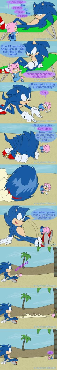 Sonic as a father and now I have to give him a little pink hedgehog daughter that wants to learn the spin dash. Sonic Funny, Sonic 3, Sonic And Amy, Sonic And Shadow, Sonic Fan Art, Sonic The Hedgehog, Shadow The Hedgehog, Sonamy Comic, Speed Of Sound