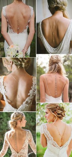 low back jewelry for bridal dresses
