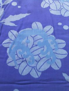 http://www.fujikimono.co.uk/fabric-japanese/splash.html  ☆ New Arrival ☆ 'Splash' #womens #antique #royal #blue #meisen #silk #kimono #floral #pattern from #FujiKimono   #textile #costume #oriental #Japanese #cosplay #kawaii #fashion #HYPERJAPAN #VintageFair #Japon #Japonisme