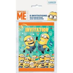 Despicable Me Party Invitations, 8-Count