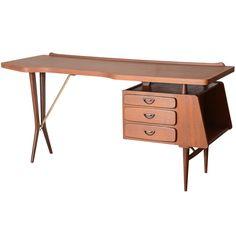 Mid Century Dutch Teak Desk