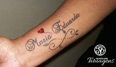 A tatuagem do infinito pode ser representada de várias maneiras, uma delas é fazer o nome ou até mesmo uma frase formando o símbolo do infinito.