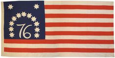 One of the most famous early American flags is the Bennington Flag, which is currently located at the Bennington Museum in Bennington, Vermont. 13 Stars, entirely hand sewn, Bicentennial 1976.