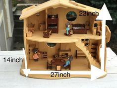 Wooden Dollhouse, Dollhouse Furniture, Furniture Making, Wood Furniture, Big Beds, Forest Creatures, Lol Dolls, Wood Patterns, Wood Toys