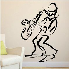 Mardi Gras Jazz Saxophone Player Wall