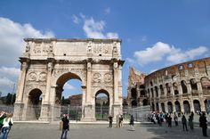 Arch of Constantine - Triumphal arch in Rome Arch Of Constantine, Ancient Architecture, Grand Tour, Ancient Romans, Italy Travel, Italy Trip, Roman Empire, Barcelona Cathedral, Big Ben