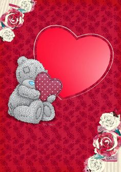 ♥ Tatty Teddy ♥ Blue Nose Friends, My Favourite Subject, Bear Illustration, Bear Pictures, Tatty Teddy, Love Bear, Friends Forever, Card Templates, Cartoon Characters