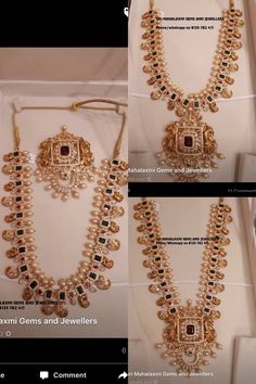 4 in 1 use long haram, 168 gms Beauty Gold Earrings Designs, Gold Jewellery Design, Necklace Designs, Gold Haram Designs, Gold Jewelry Simple, Gold Wedding Jewelry, Bridal Jewelry, Jewels, Mango Mala