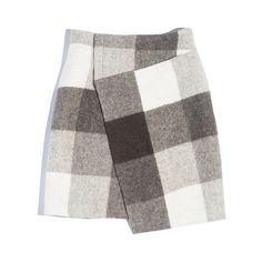 Balenciaga Wrap Pencil Skirt ❤ liked on Polyvore featuring skirts, pencil skirt, balenciaga, balenciaga skirt, white skirt and knee length pencil skirt