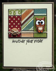 There She Goes—cute little owl from the Smarty Pants stamp set.