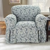 Found it at Wayfair - Scroll Classic Club Chair Skirted Slipcover