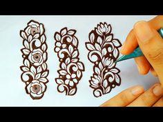 Henna Designs On Paper, Floral Henna Designs, Simple Arabic Mehndi Designs, Henna Tattoo Designs Simple, Beginner Henna Designs, Mehndi Designs Book, Latest Bridal Mehndi Designs, Full Hand Mehndi Designs, Mehndi Designs For Girls
