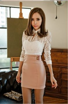 Fashion Sexy Women's Lace Long Sleeve T-Shirt White - BuyTrends.com