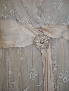 antique tambour lace dress