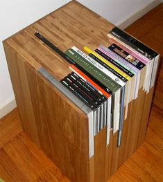 This looks really cool, but also a lot of work for a very specific book shelf that doesn't lend itself to any change. When good design goes bad.