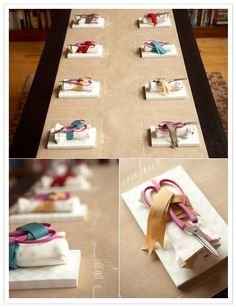 crafting place settings