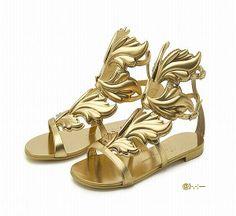 Giuseppe Zanotti #gold sandals @}-,-;—