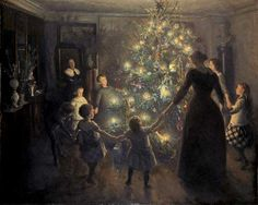 'Glade Jul' by Viggo Johansen, 1891. Image courtesy of Wiki Commons Lovely