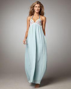 Mara Hoffman Blue Lotus Maxi Dress