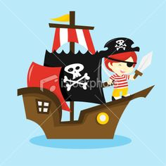 Gallery For > Cute Pirate Ship Vector