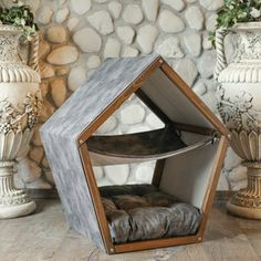 Wood Dog Bed, Wood Cat, Pet Hammock, Hammock Tent, Modern Cat Furniture, Pet Furniture, Puppy Beds, Pet Beds, Dog Beds For Small Dogs