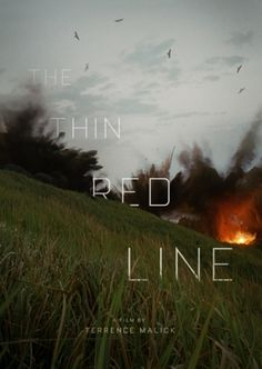 The Thin Red Line movie poster design